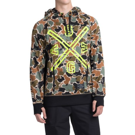 Saga Crest Riding Hoodie (For Men) in Union Camo