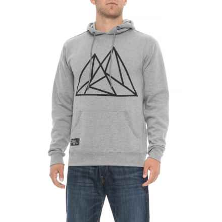 Saga Geo Mountains Graphic Hoodie (For Men) in Grey - Closeouts