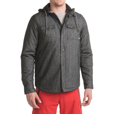 Saga Hooded Flannel Jacket - Insulated (For Men)