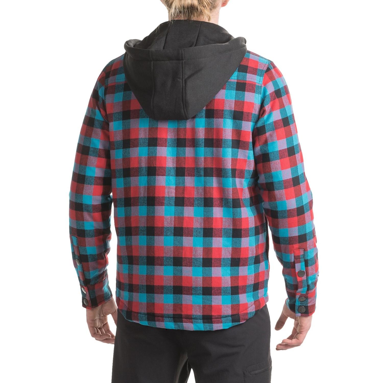 Saga Hooded Flannel Jacket (For Men) - Save 75%