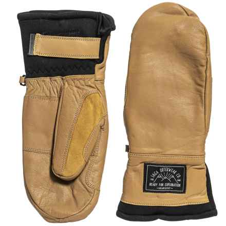 Saga Insulated Leather Mittens - Waterproof (For Men) in Natural - Closeouts