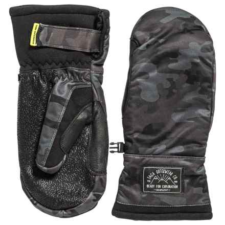 Saga Insulated Mittens - Waterproof (For Men) in Black Camo - Closeouts