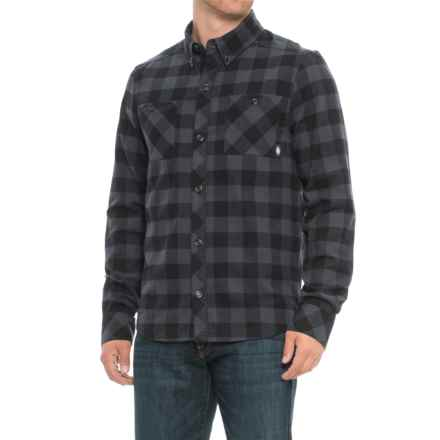 Saga Life Button-Up Shirt - Long Sleeve (For Men) in Black Gingham - Closeouts