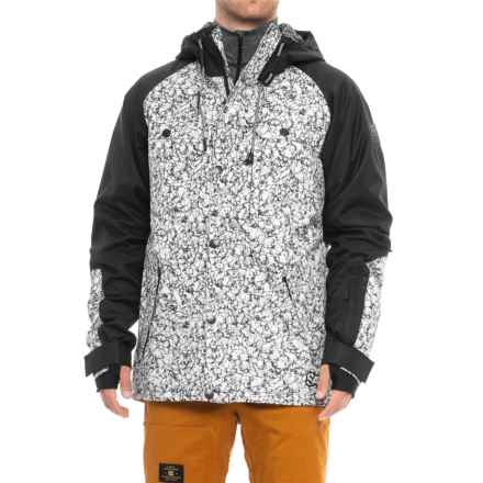 Saga Mutiny Jacket - Waterproof, Insulated (For Men) in Blanc Marble - Closeouts