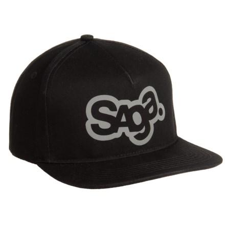 f5f693d9418 Saga OG Logo 3M Snap-Back Baseball Cap (For Men) in Black -