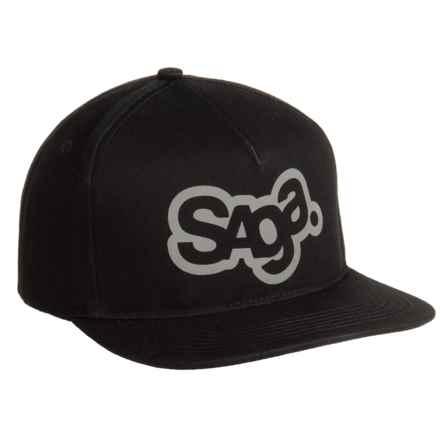 Saga OG Logo 3M Snap-Back Baseball Cap (For Men) in Black - Closeouts