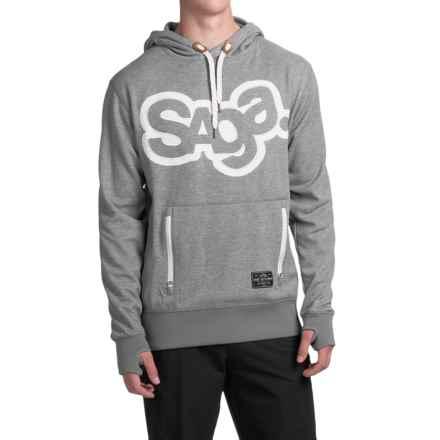 Saga OG Logo Riding Hoodie (For Men) in Concrete - Closeouts