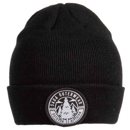 Saga Outdoor Division Beanie (For Men) in Black - Closeouts