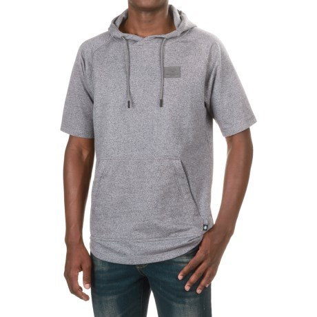 Saga Park Hoodie - Short Sleeve (For Men) in Grey