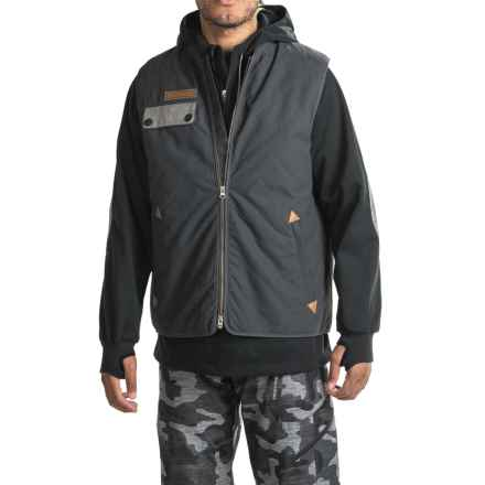 Saga Puff Poly Jacket-Vest Combo - Waterproof, Insulated (For Men) in Black - Closeouts