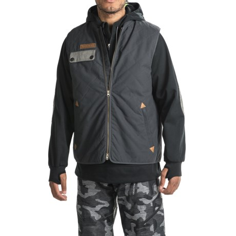 Saga Puff Poly Jacket-Vest Combo - Waterproof, Insulated (For Men) in Black