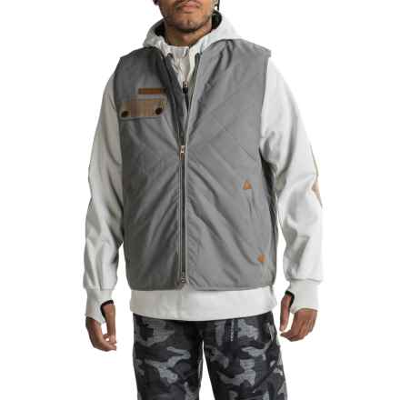 Saga Puff Poly Jacket-Vest Combo - Waterproof, Insulated (For Men) in Grey/White - Closeouts