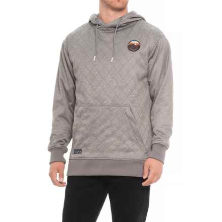 Saga Quilted Hoodie (For Men) in Monument - Closeouts