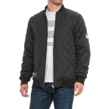 Saga Reversible Quilted Jacket (For Men) in Black - Closeouts