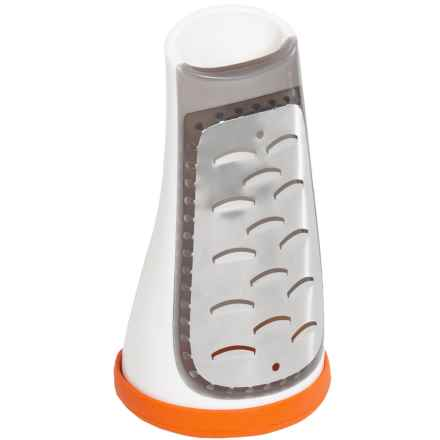 Sagaform Box Grater with Removable Silicone Bottom in Orange - Closeouts