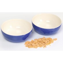 Sagaform Breakfast Bowls - Set of 2 in Blue/White - Closeouts