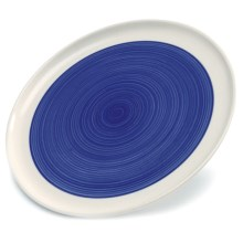 Sagaform Breakfast Plates - Set of 2 in Blue/White - Closeouts