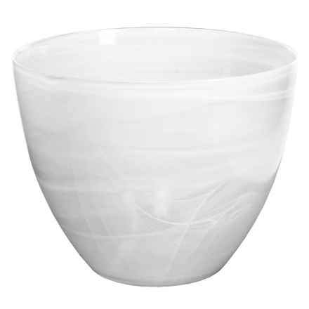 "Sagaform Everyday Glass Serving Bowl - 11"" in White - Closeouts"