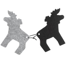 Sagaform Moose Trivets - Set of 2 in Grey/Black - Closeouts