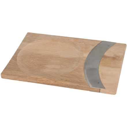"Sagaform Oak Mezzaluna with Cutting Board Bowl - 7"" in Oak - Closeouts"