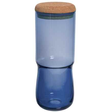 Sagaform SEA Glasbruk Aqua Jar with Cork Lid - Large in Blue - Closeouts