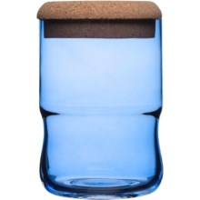 Sagaform SEA Glasbruk Aqua Jar with Cork Lid - Small in Blue - Closeouts