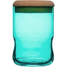 Sagaform SEA Glasbruk Aqua Jar with Cork Lid - Small in Green - Closeouts