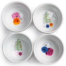 Sagaform Season Ramekin - Stoneware, Set of 4 in Multi - Closeouts