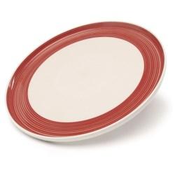Sagaform Stoneware Brunch Plates - Set of 2 in Red/White