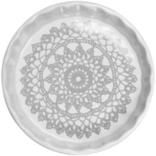 "Sagaform Stoneware Grandma Pie Plate - 9-1/2"" in Grey - Closeouts"