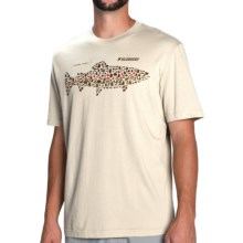 Sage Brown Trout Flies T-Shirt - Short Sleeve (For Men) in Light Gray - Closeouts