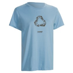 Sage Eco T-Shirt - Organic Cotton, Short Sleeve (For Women) in Sky Blue