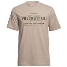 Sage Freshwater T-Shirt - Short Sleeve (For Men) in Stone - Closeouts