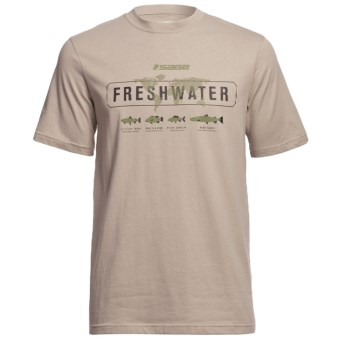 Sage Freshwater T-Shirt - Short Sleeve (For Men) in Stone