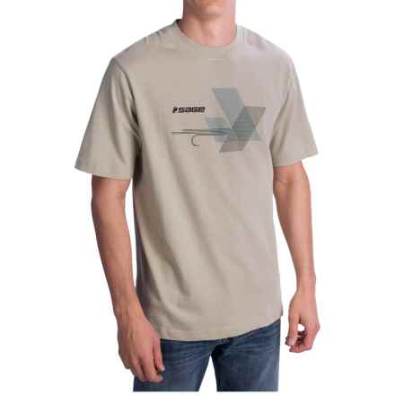 Sage Graphic Fly T-Shirt - Short Sleeve (For Men) in Khaki - Closeouts