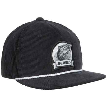 Sage Heritage Corduroy Baseball Cap (For Men) in Navy - Closeouts