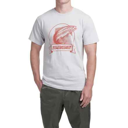 Sage Heritage T-Shirt - Short Sleeve (For Men) in Cement - Closeouts