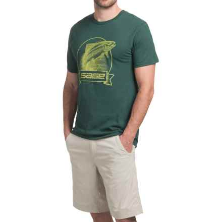 Sage Heritage T-Shirt - Short Sleeve (For Men) in Dark Green - Closeouts