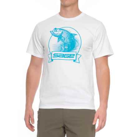 Sage Heritage T-Shirt - Short Sleeve (For Men) in White - Closeouts