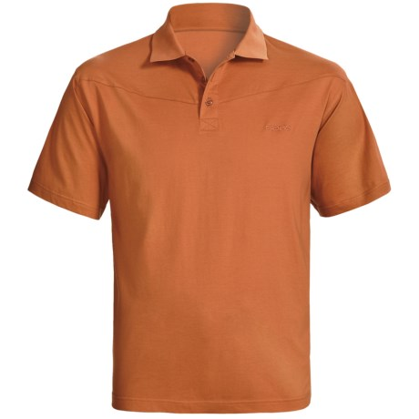 Sage High-Performance Polo Shirt - UPF 30+, Short Sleeve (For Men) in Burnt Orange
