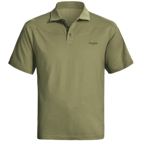 Sage High-Performance Polo Shirt - UPF 30+, Short Sleeve (For Men) in Sage