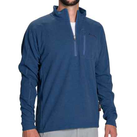 Sage Kanektok Wool Pro Pullover Jacket - Polartec® Power Dry®, Zip Neck (For Men) in Offshore Blue - Closeouts