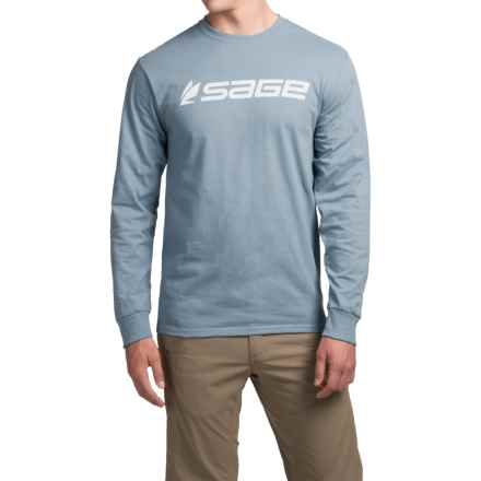 Sage Logo T-Shirt - Cotton, Long Sleeve (For Men) in Stonewashed Blue - Closeouts