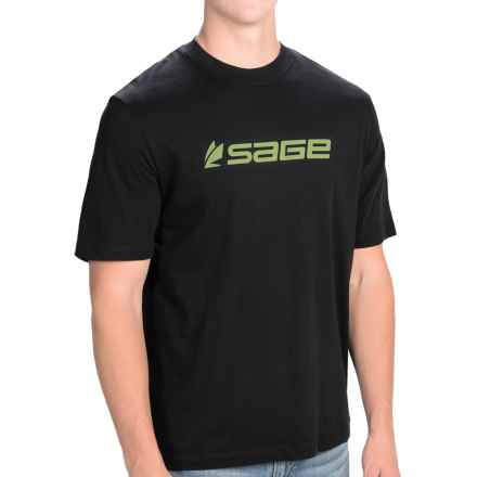 Sage Logo T-Shirt - Short Sleeve (For Men) in Black - Closeouts