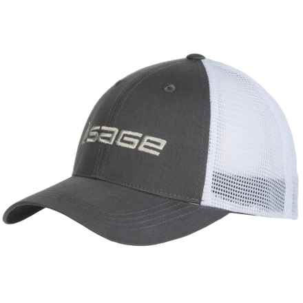 Sage Mesh Back Trucker Hat (For Men) in Charcoal - Closeouts