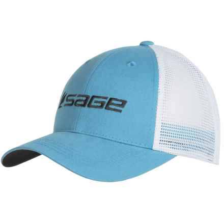 Sage Mesh Back Trucker Hat (For Men) in Slate - Closeouts