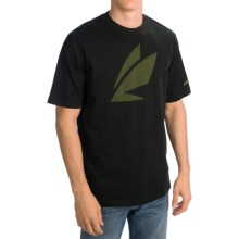 Sage Pattern Fly T-Shirt - Short Sleeve (For Men) in Black - Closeouts
