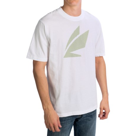 Sage Pattern Fly T-Shirt - Short Sleeve (For Men) in White