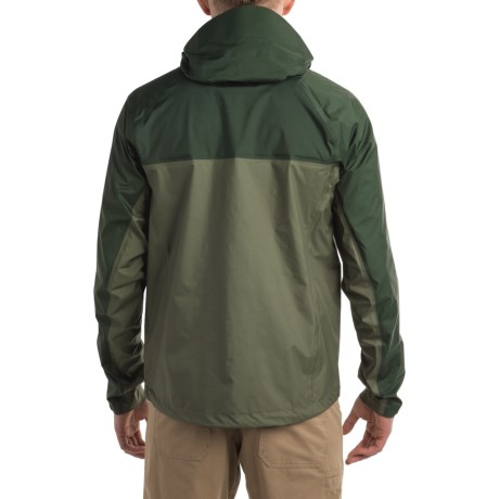 f55154fc93b4 No splashy stream or dark cloud will drown out your day with Sage's Quest rain  jacket, done in light, packable nylon with three levels of moisture ...