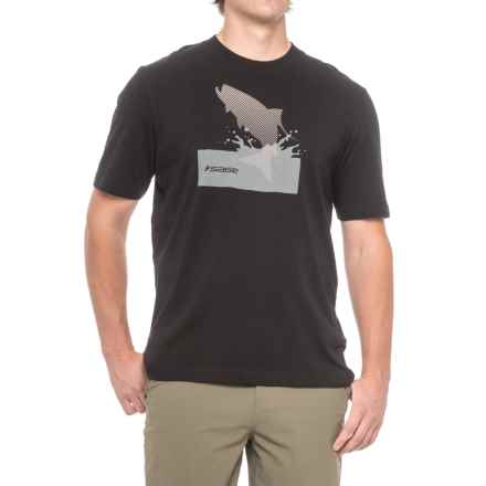 Sage Splashing Tarpon T-Shirt - Short Sleeve (For Men) in Black - Closeouts
